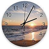 DKISEE Reloj silencioso para playa, mar y cielo, nubes,...