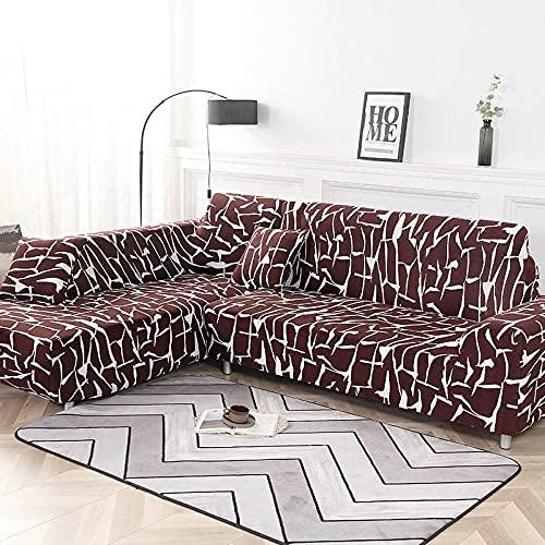 WXQY Fundas elásticas, Funda de sofá elástica, protección para Mascotas, Funda de sofá, Esquina Antideslizante en Forma de L, Funda de sofá Antideslizante A10, 3 plazas