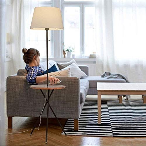 Equipo para el hogar Lámpara de pie Escandinavo Creativo Sofá cama Cabezal Vertical Estante circular Luces de piso de hierro para sala de estar Dormitorio Mesa de centro Bombilla incluida A (Color: