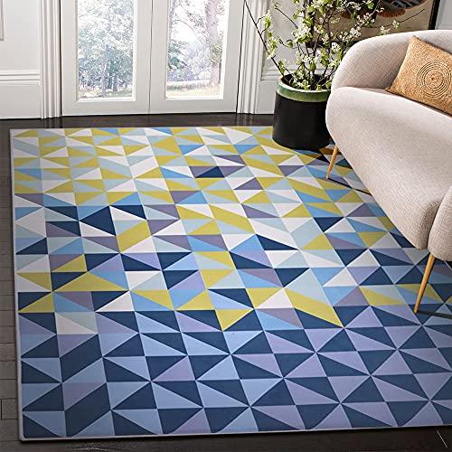 Milnsirk Alfombra de Design Geométrico Moderno de Pelo Corto, para Salon, Dormitorio,...