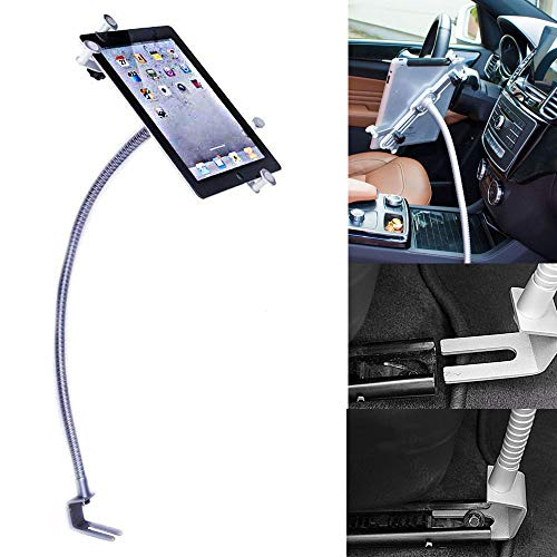 UrbanNerd KFZ Auto Schwanenhals Halterung aus Metall Kompatibel mit Apple-iPad-2-3-4-Mini-Air-Air-2 iPad, Samsung Galaxy Tab & alle Tablet von 8