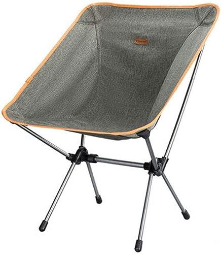 1949shop Chaise Pliante extérieure portative, Fauteuil Pliant gris, Chaise de Plage et de Camping Ultra légère et Stable pour la pêche - 52 \u0026 Times; 53 \u0026 Times; 67cm