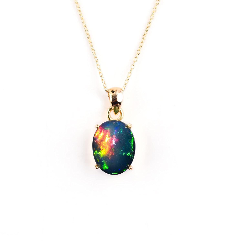 100% Genuine Ultra Rare Fire Black Opal Cabochon ! Super beauty product restock quality top! Ethiopian Oval Bezel