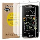 pinlu [4 Pack Film Protection en Verre trempé écran Protecteur Vitre pour LG K5 Glass Protector...