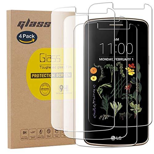 pinlu [4 Pack Protector de Pantalla de Cristal para LG K5 Protector...