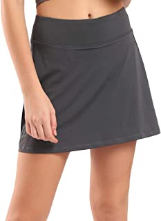 Deportivo Falda de Tenis para Mujer con Pantalones Cortos y Bolsillo Lateral