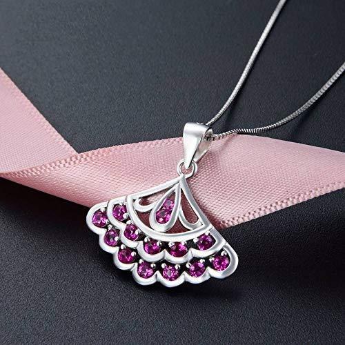 Dames-925 zilveren hanger, modieuze romantische kettingloze schattige driehoek met ingelegde zirkoon lila jurk vorm charm hanger voor dames sieraden accessoires verjaardagscadeau accessoire