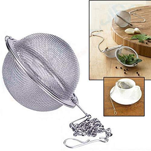 Anam Safdar Butt Filtro de Malla Bola de Hierbas Herramientas de Cocina para cocinar Colador de té de Acero Inoxidable 304 Infusor Bloqueo de té Bola de condimento Especia de té