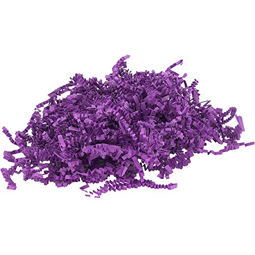 JAM PAPER Crinkle Cut Shred Tissue Paper - 2 oz - Purple - Sold Individually