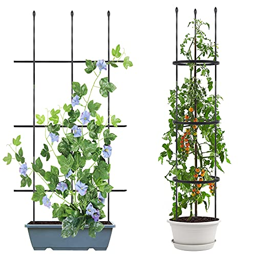 Esbaybulbs Garden Trellis for Climbing Plants 2 Pack 48 Inch Multi-fuction Plant...