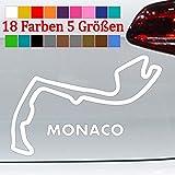 Generic Monaco Rennstrecke Layout Aufkleber Formel 1 Monte Carlo GTI 18 Farben 5 Größen