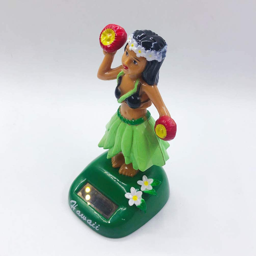 GARNECK Solar Dancing Figure Dancing Hawaii Girl Toys Shaking Doll ...