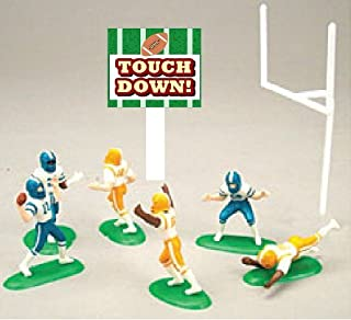Miniature Football Players Party Cake/Cupcake Decoration Toy Topper Kit