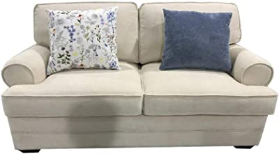 Danube Home Velocity 2 Seater Fabric Sofa - Light Grey