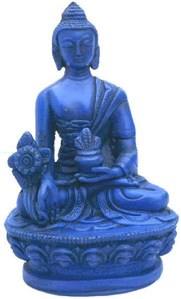 Mytibetshop Healing Medicine Buddha Lapis Looking 4 Tall Made By Himalayan Artisan In Nepal