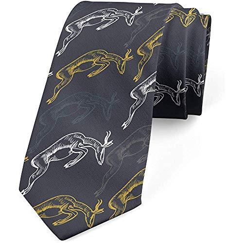 Mathillda De stropdas van mannen, moderne springende houder, donkerblauwe grijze mosterd, perfecte cadeaus voor mode-stropdas