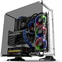 Thermaltake Core P3 ATX Tempered Glass Gaming Computer Case Chassis, Open Frame Panoramic Viewing, White Edition, CA-1G4-00M6WN-05,Snow
