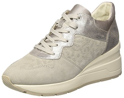 Geox D Zosma C, Zapatillas para Mujer, Gris (Lt Grey), 40 EU