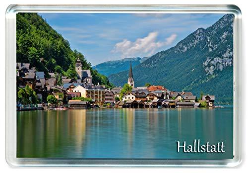 DreamGirl J211 Hallstatt Jumbo Imán para Nevera Austria Travel Fridge Magnet
