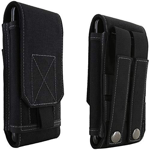 XiRRiX Handytasche Gürtel V8 - Smartphone Tasche passend für Cat S62 Pro/Motorola Moto G9 Plus / G9 Power/Nokia 8.3 / Oneplus N10 N100 / Samsung Galaxy A42 / S21+ - Handy Gürteltasche schwarz