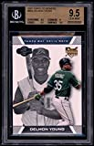 Delmon Young Rookie Card 2007 Topps Co-Signers #96a BGS 9.5 (9.5 9 9.5 9.5). rookie card picture