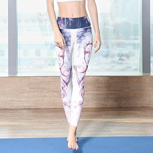 JIALELE Pantalon De Yoga Déplacement d'un_Stamp Sports Loisirs Jeux De Plein Air Vêtements Fitness Vêtements De Yoga