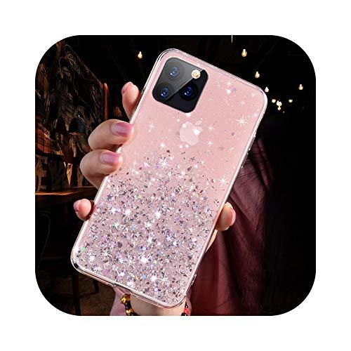Carcasa de lujo con purpurina para iPhone 12 11 Pro Max Mini X XR XS 6 6S 7 8 Plus transparente de TPU suave para iPhone 6 Plus