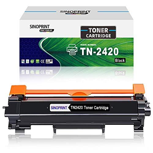 Sinoprint - Cartuccia toner compatibile per Brother TN2420 TN-2420 per stampanti HL-L2350DW MFC-L2710DW DCP-L2510D DCP-L2530DW HL-L2375DW HL-L2370DN L2310D MFC-L2730DW TN2410 TN-2410 (1 nero)