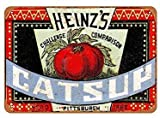 DKISEE Metal Sign Wall Decor, Heinz's Catsup, Birthday Gift Wall Decor Signs and Plaques 12x18 Inches