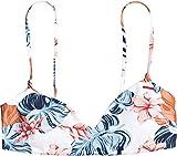 Roxy Junior's Printed Beach Classics Athletic Bikini Top, Bright White Standard Sample, M