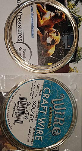 Beadsmith 21 Gauge Silver Plate Square Wire, 4 Yards Craft Wire