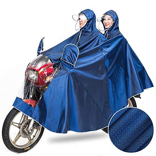 Pessica dubbel verbreed om te verhogen rijden Poncho, regenjassen motorkleding hoge veiligheid reflecterende vizier verwijderbare dubbele waterdichte Vinyl