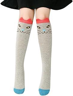 BaZhaHei-Calcetines, Calcetines Socks by BaZhaHei, Niños Chica Animal Patrón Rodilla Calcetines Lindos de calcetín Socks para Mujer Patrón de Animales Infantiles Jacquard en Medias Calcetines