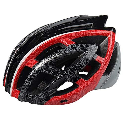 FENGE Specialized Fahrradhelm MTB Helm Mountainbike Helm Herren & Damen mit Rucksack Fahrrad Helm Integral 26 Belüftungskanäle 57CM-61CM,Rot,M/L(57~62cm)