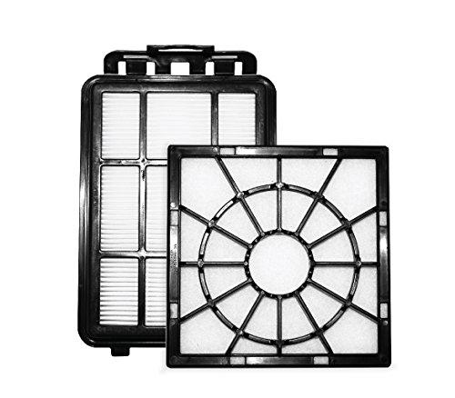 AEG AEF155 Filter-Set (1 Mikrofilter, 1 Abluftfilter, Filtertausch, optimale Filtrationsleistung, verbesserte Saugleistung, saubere Luft, schwarz), Kunststoff