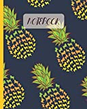 Notebook: Cute Pug Pineapple Pattern - Lined Notebook, Diary, Track, Log & Journal - Gift Idea for Boys Girls Teens Men Women (8'x10' 120 Pages)
