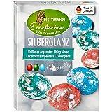 Heitmann Eierfarben Silberglanz- glitzerndes Osternest - Blau, Grün und Rot - Glitzerfolie - Kaltfarben