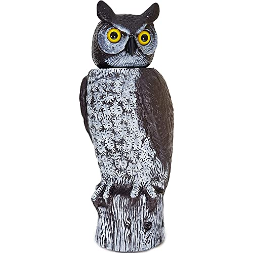 Gardeneer By Dalen RHO4 Natural Enemy Scarecrow Rotating Head Owl, Brown, 17.75-inches tall, Multi