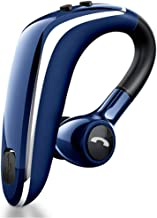 WYANG Bluetooth Headset 5.0, Fast Charging Sweat-Proof Wireless Bluetooth in-Ear Headphones, 180º Rotating Earpiece, Voice Prompts, for Office Workers/Business,Blue