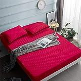 YDyun Protector de colchón de bambú Funda de colchón y Ajustable Protector de Hoja Acolchado