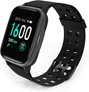 Fitness Tracker Watch, Activity Tracker Watch 1.3 inch Touch Screen IP68 Waterproof Smart Watch with Heart Rate Monitor, Step Counter, Sleep Monitor, Pedometer Watch for Women Men Kids