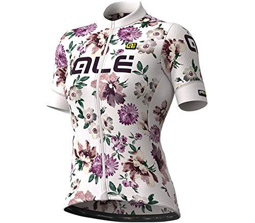 Alé Cycling Graphics PRR Fiori Kurzarm Trikot Damen White Größe L 2021 Radtrikot kurzärmlig
