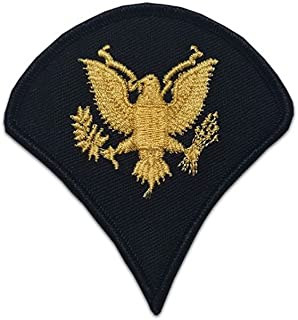 US Army Male Rank Gold On Blue Chevrons For ASU