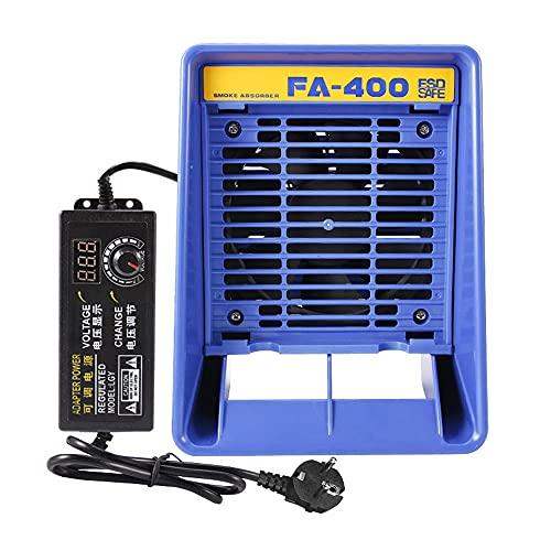 Keifen Extractor de humo de hierro de soldadura FA-400, soplador de aire de soldadura, ventilador de de escritorio, máquina de absorción de humo