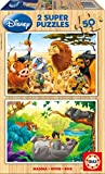 Educa - Animal Friends Disney Puzzles, 2x50 Piezas, Multicolor (13144)