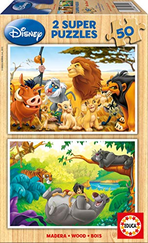 Educa- Animal Friends Disney Puzzles, 2x50 Piezas, Multicolor (13144)