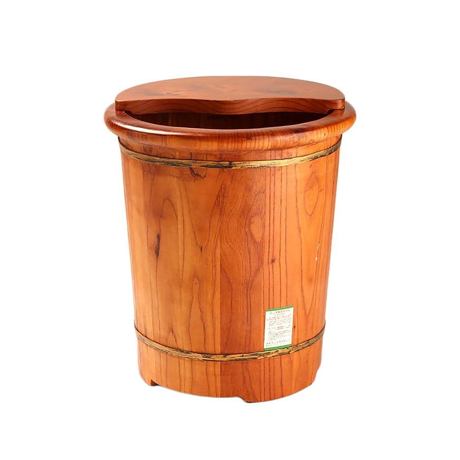 一貫性のないカウントアップ救急車YANYUNBIN 足を洗う木製のバレル、排水カンフルウッドフットバスバー付き家庭用木製ペディキュアバレル