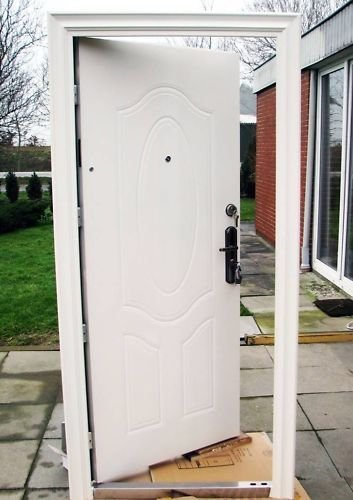 Tür, Wohnungstür, Sicherheitstür, Haustür,Innen Links und Rechts 950x2050mm, weiß
