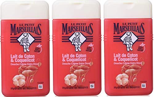 Le Petit Marseillais duschcreme extra-Gentle Milk Cotton und Poppy 250ml 3er-Pack
