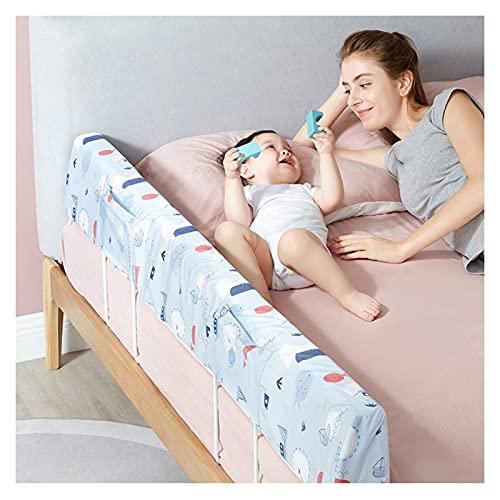 LIQICAI - Guida per letto per bambini, in memory foam per bambini, protezione paraurti (colore: blu, dimensioni: 1,5 m)